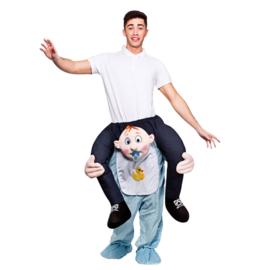 Door baby boy gedragen kostuum