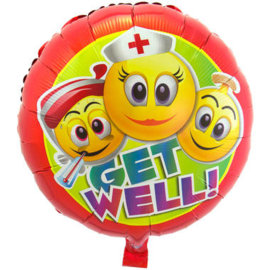 Folieballon Smileys Get well!
