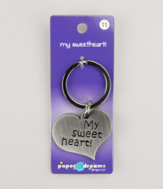 Sleutelhanger metal sweetheart