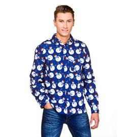 Kerstmis blouse sneeuwpop | Foute kerst blouse