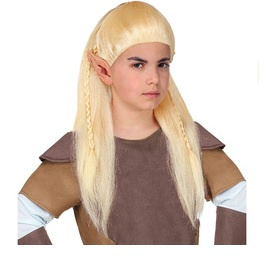 Pruik fantasie elf kind