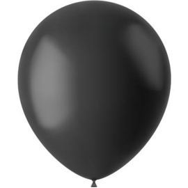Ballonnen Midnight Black Mat 33cm - 50 stuks