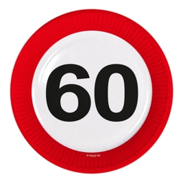 Verkeersbord bordjes 60 jaar