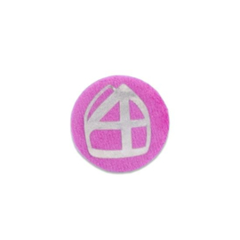 Mijter button pink