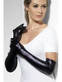 Handschoenen wetlook zwart