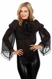 Piraten blouse zwart