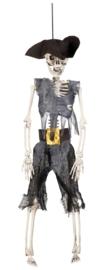 Skeletten piraat deco 41cm