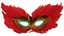 Oogmasker veren rood