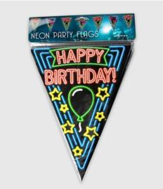 Vlaggenlijn neon 10 meter | Happy Birthday