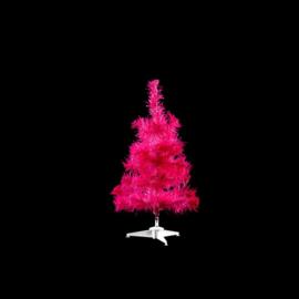Kunst kerstboom hotpink 45cm