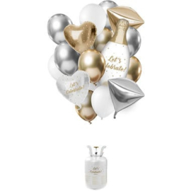 Helium tank Balloongaz 30 'Celebrate' met Ballonnen en Lint