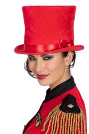 Hoge hoed Velvet XL | rood