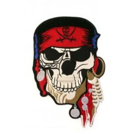 Applicatie pirate skull 21 x 13,5 cm