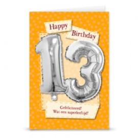 Leeftijd ballonnen kaart 13 jaar