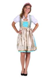 Dirndl jurk Julia deluxe turqoise OP=OP