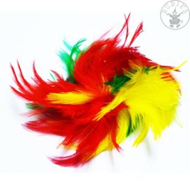 Veren haarclip carnaval | Rood geel groen