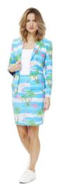 Ms. flamingo opposuits kostuum