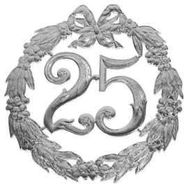 Huldekrans - 25 jaar / zilver