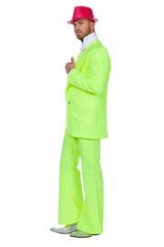 Disco fever kostuum neon geel
