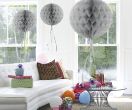 Honeycomb deco zilver