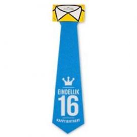 Fun stropdas Eindelijk 16