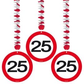 Hangdecoratie Verkeersbord 25 jaar