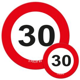 Tafelconfetti 30 jaar verkeersbord