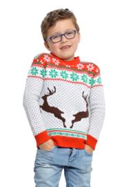 Kerst trui witte rendieren kinderen