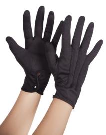 Handschoen drukknoop zwart