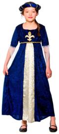 Tudor prinses kostuum blauw