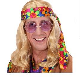 Pruik hippie John blond