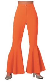 Disco broek dames neon oranje