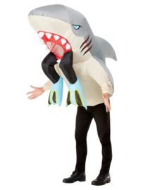 Haai en duiker opblaaskostuum