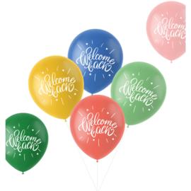Retro ballonnen welcome back   33cm / 6 stuks