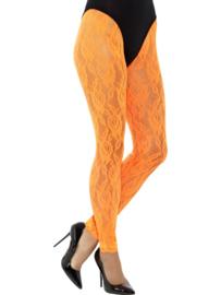 80's Legging kant neon oranje