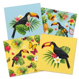 Toekan tropisch servetten