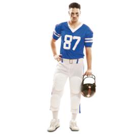 Rugbyspeler kostuum blauw