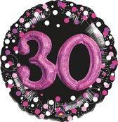 Folieballon sparkling pink 3D 30 (81cm)