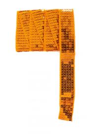Paillettenband recht oranje 3m