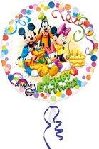 Folieballon Mickey & friends HBD (43cm)