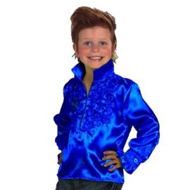 Disco blouse kinderen blauw OP=OP