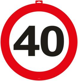 Deurbord 40 jaar