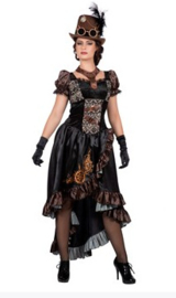 Steampunk jurk black
