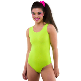 Body suit neon geel
