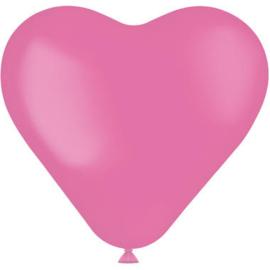 Hartvormige Ballonnen Rosey Pink 25cm - 8 stuks