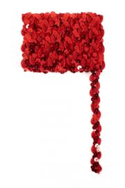 Paillettenband golvend rood 3m