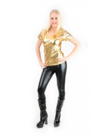 Bling t-shirt goud
