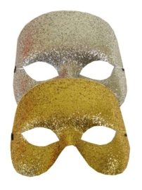 Halfmasker glitter zilver