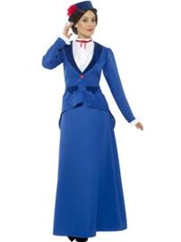 Victoriaanse nanny kostuum