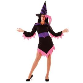 Heksen jurkje fuchsia